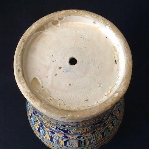 Jarre en faïence Fès Maroc grande Khabya fin XIX début XXe