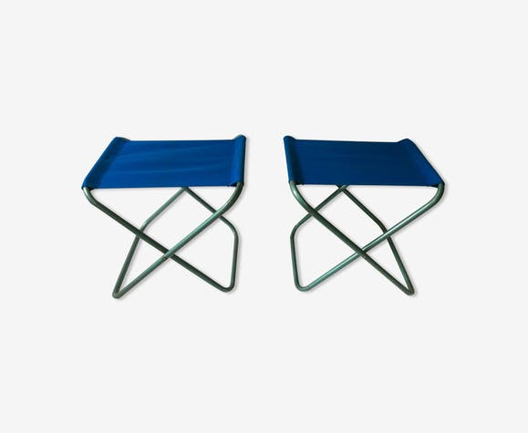 Pair of vintage folding stools