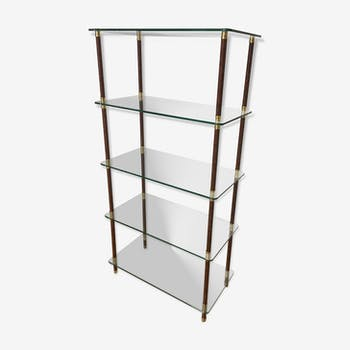 Glass and brass shelf