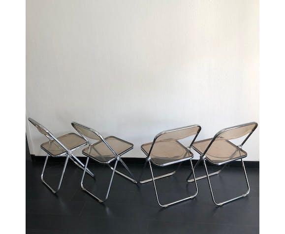 Set de 4 chaises Plia par Giancarlo Piretti pour Castelli vintage 1960