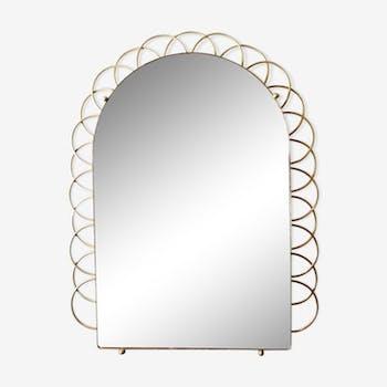 vintage mirror in brass  - 59x46cm
