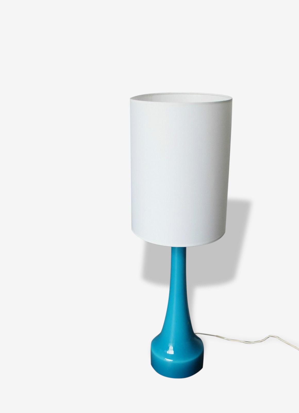 Lampe de table table lamp scandinave verre Holmegaard Danemark Mid-Century