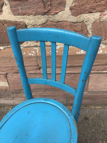 Chaise bistrot vintage bois peint 1930