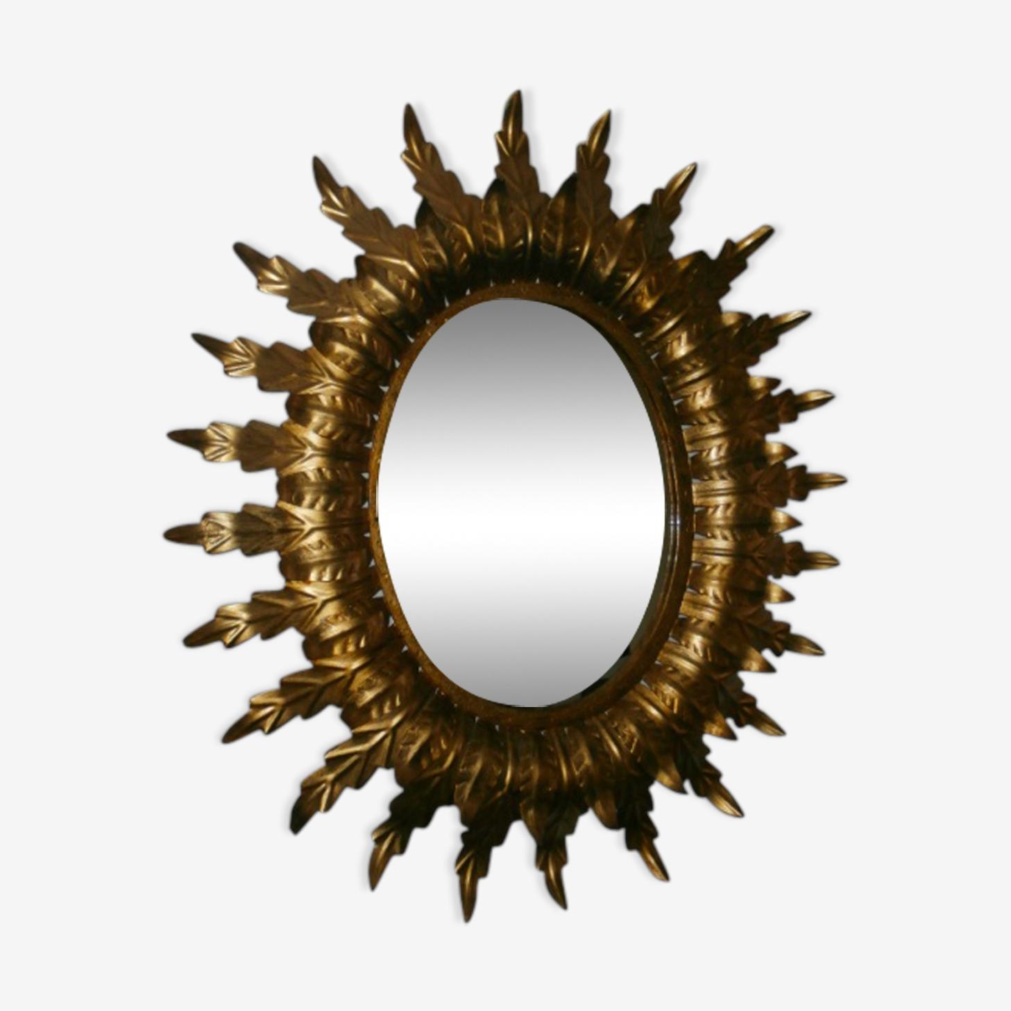 Miroir laiton vers 1950-1960