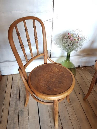 Pair of bistro chairs, 1900