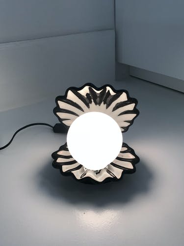 Lampe coquillage années 80