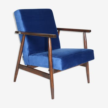 Armchairs in blue velvet from 1970