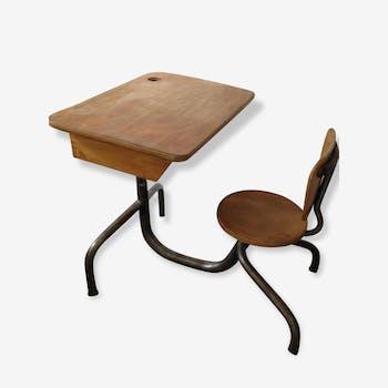 bureau enfant herbert hirche pour holz pfel ann es 60 bois mat riau gris design wlgkris. Black Bedroom Furniture Sets. Home Design Ideas