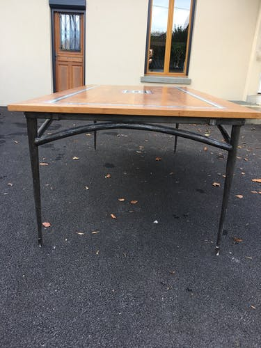 Table fer forgé