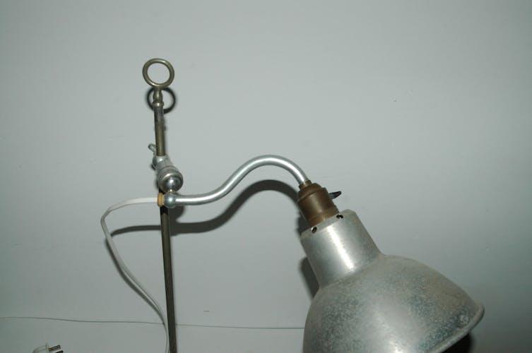 Art-deco articulated lamp nickel-copper aluminum