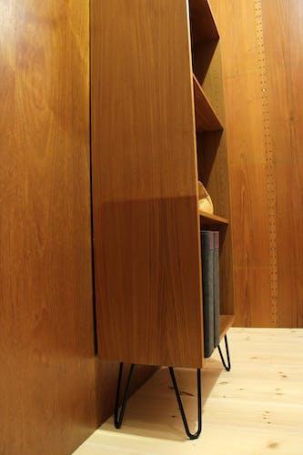 Bibliothèque danoise en bois de teck par Gunni Omann pour Omann Jun, années 1960
