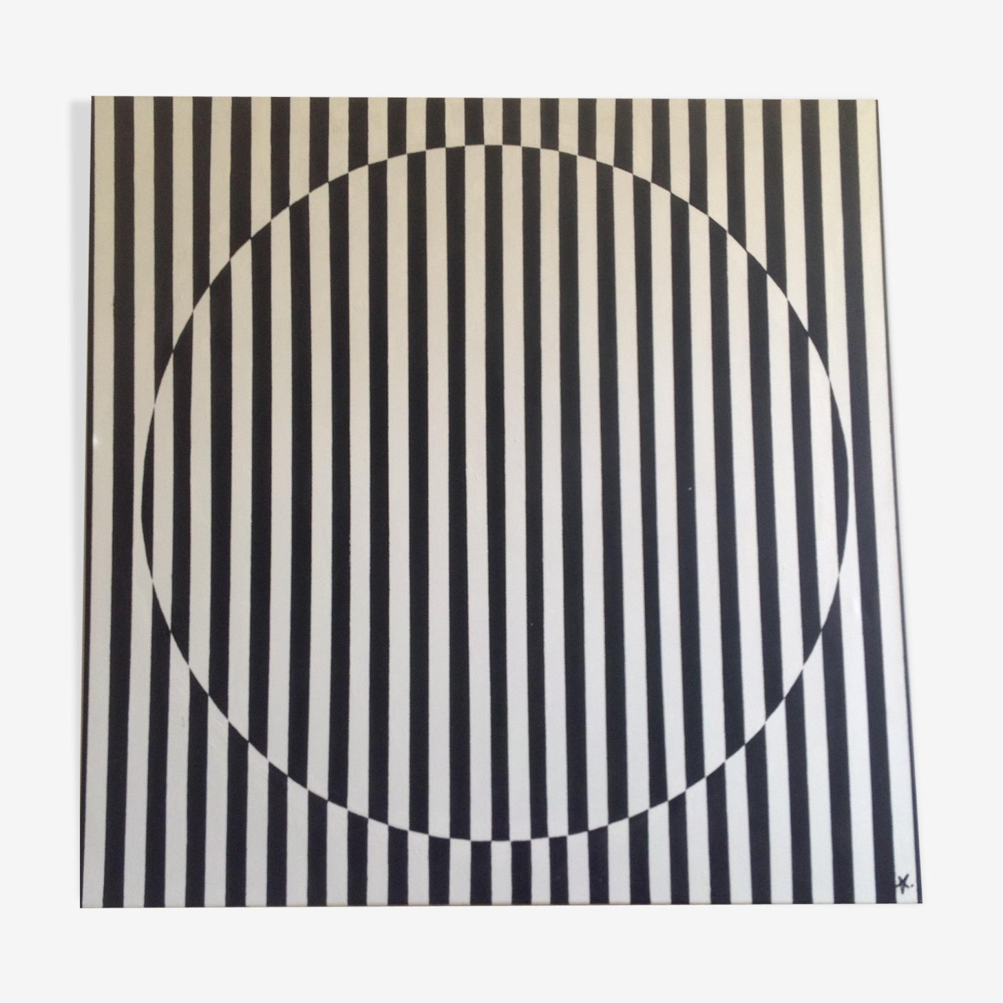 Acrylique sur toile coton 1mx1m
