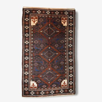 Tapis vintage Afghan Baluch fait main 117cm x 187cm 1970 - 1C231