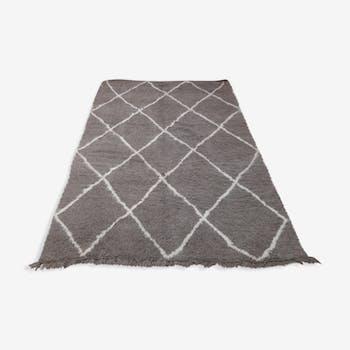 Tapis beni ourain gris 250 x 167 cm