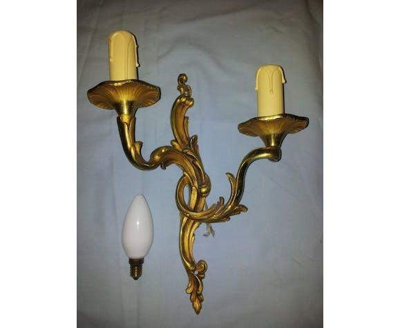 Pair of bronze sconces
