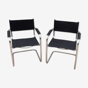 Paire de fauteuils 70
