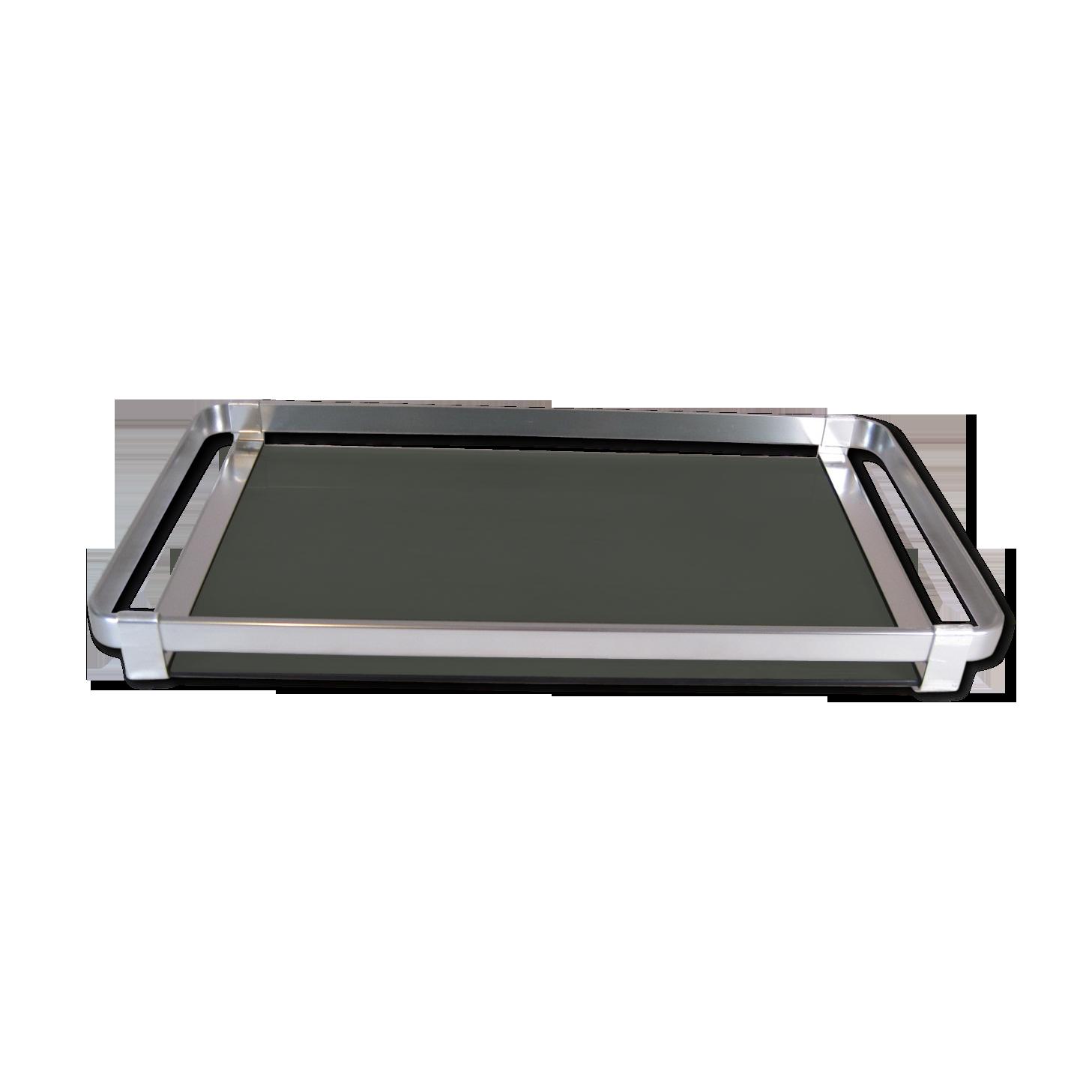 SM SunniMix Porte-Outil en Acier Inoxydable Plateau Service Rectangulaire Durable Compacte 40CM Argent