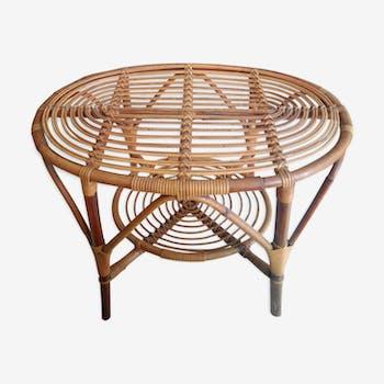Table ovale rotin 59 cm de hauteur