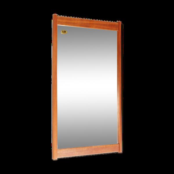 Miroir Dansk Design pour AM Spelje en teck années 70 57x33cm