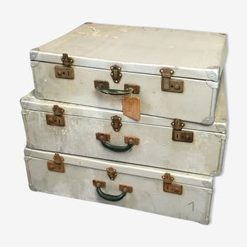 Ensemble de trois valise en fer
