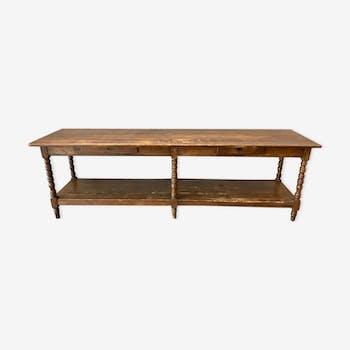 XIX Draper end table in oak and FIR