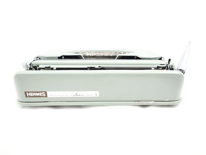 Machine à écrire Hermes baby verte sauge vintage