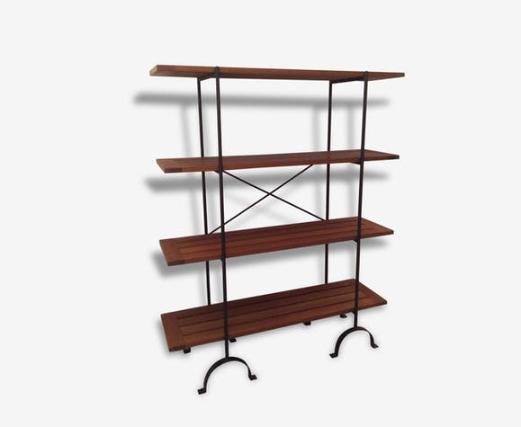 tag res de drapier en fer forg et teck biblioth que. Black Bedroom Furniture Sets. Home Design Ideas