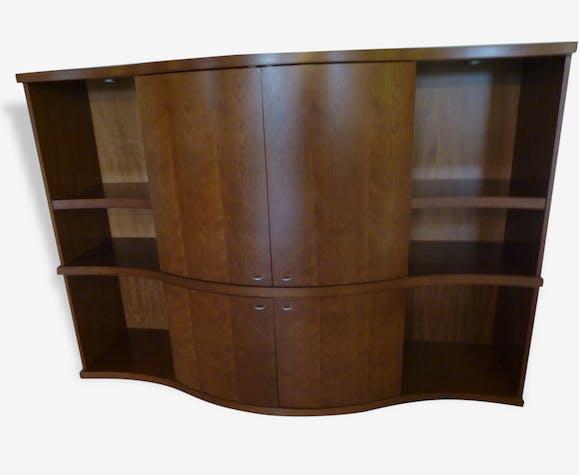 biblioth que meuble t l roche bobois bois mat riau. Black Bedroom Furniture Sets. Home Design Ideas