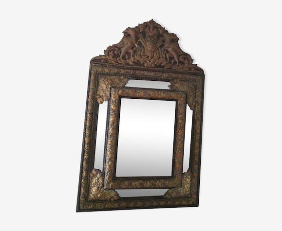 Old mirror floral, animal decor 59x94cm
