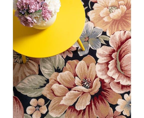 Tapis floral en laine 160x230 cm