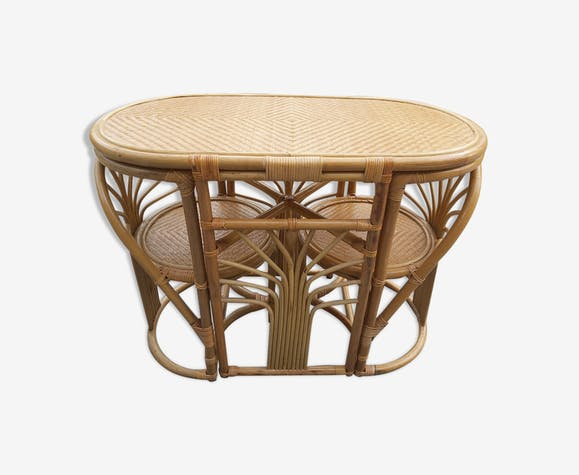 Bamboo and rattan table and chairs