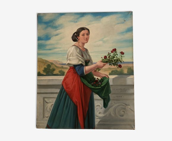 Portrait XIX eme siècle signé