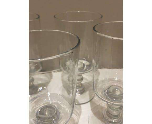 Lot de verres en verre soufflé
