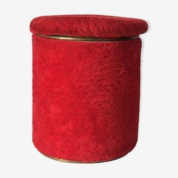 Pouffe coffre vintage rouge