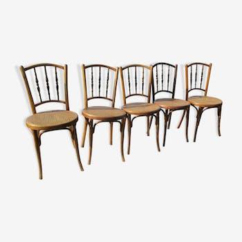 5 chaises bistrots cannées jacob & josef kohn wein austria