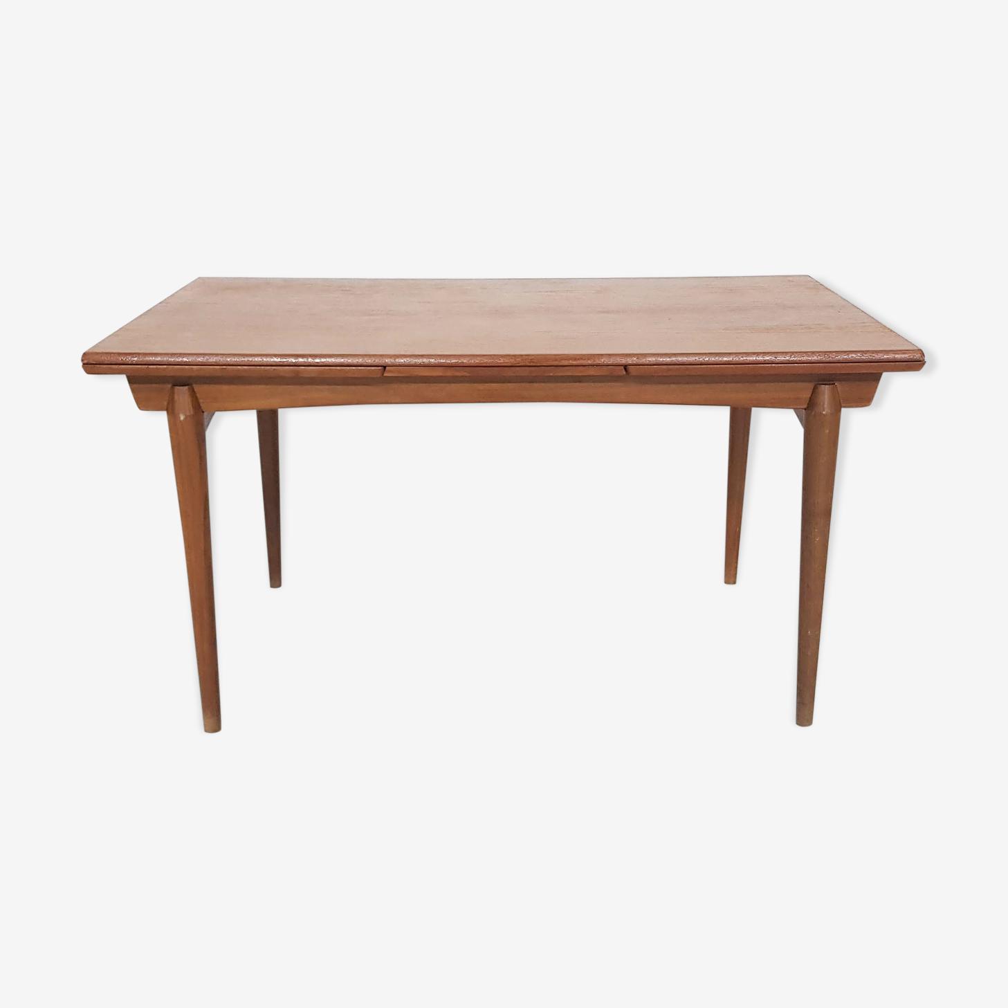 Table extensible en teck scandinave 1960