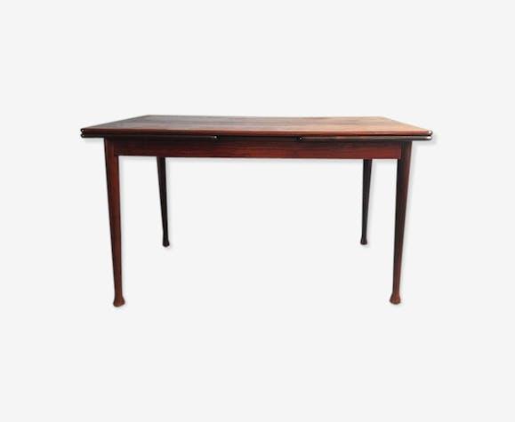 Table à manger danoise moderne extensible de bois de rose, années 60