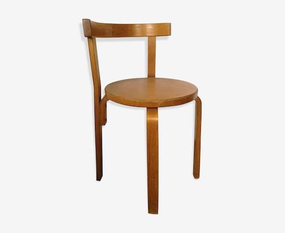 Chaise plywood,  chaise scandinave  en lamellé collé