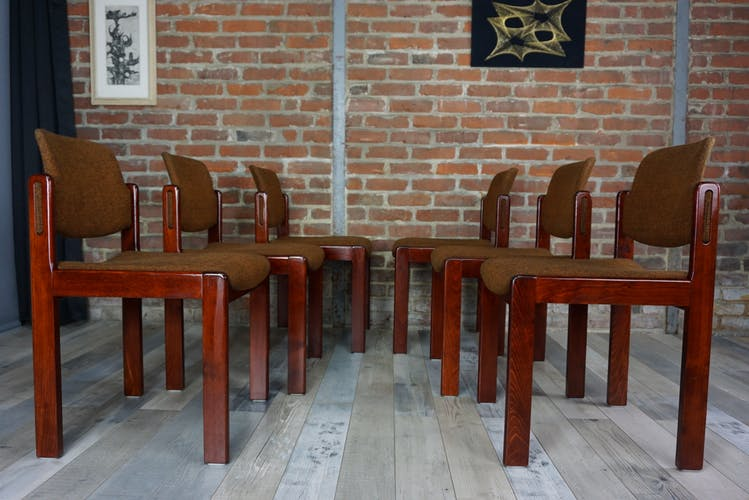 Suite of 6 60s chairs by Lunke