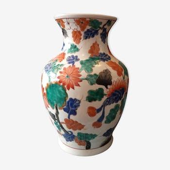 Flowery Asian vase