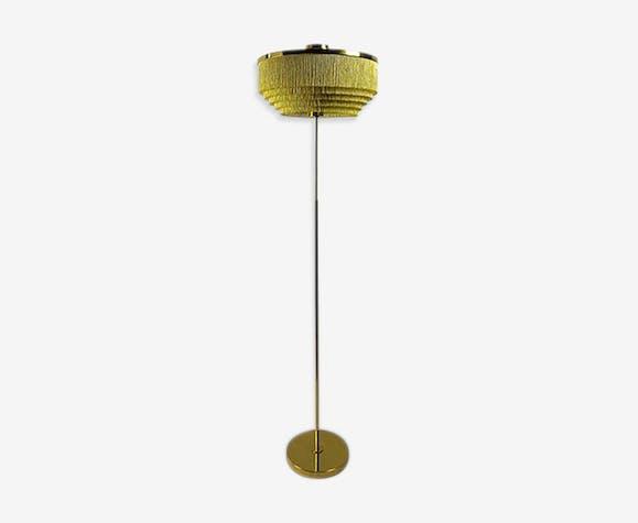 Vintage model G - 110 silk fringe floor lamp by Hans-Agne Jakobsson brass