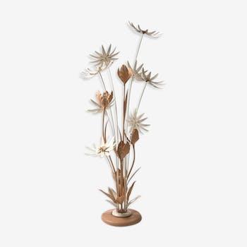 Une lampe florale française, 1950s
