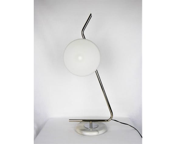 Lampe vintage Arlus 2 opalines 1950