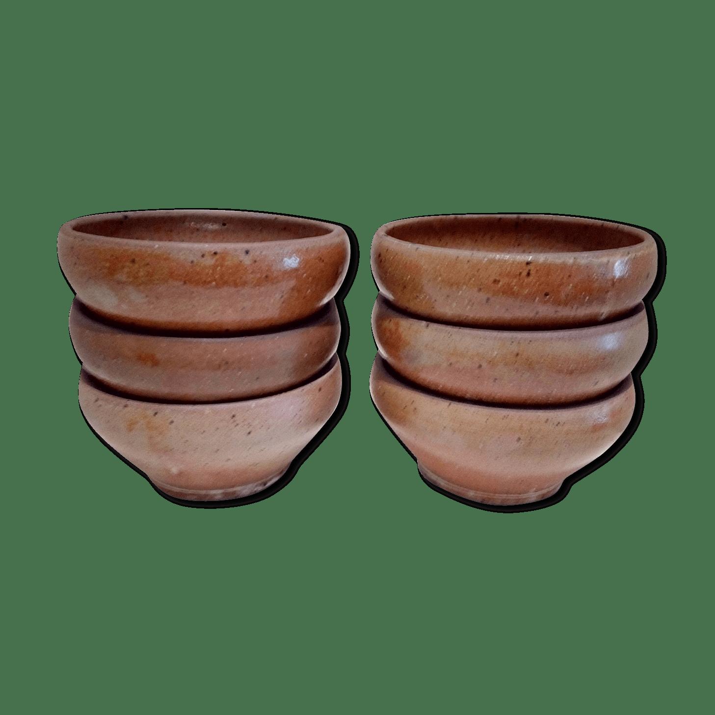 6 bols en grès