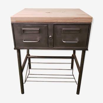 chevet d h pital fer beige industriel inovjq5. Black Bedroom Furniture Sets. Home Design Ideas