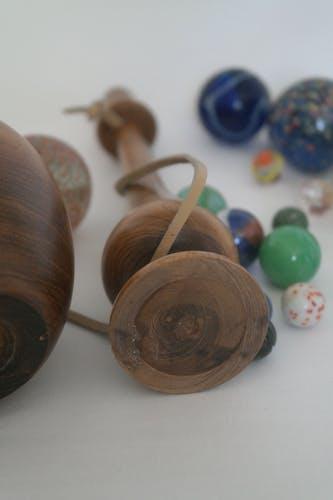 Bilboquet artisanal vintage