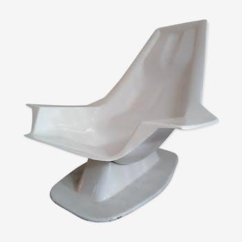 Fiberglass pool side chair, 1960's