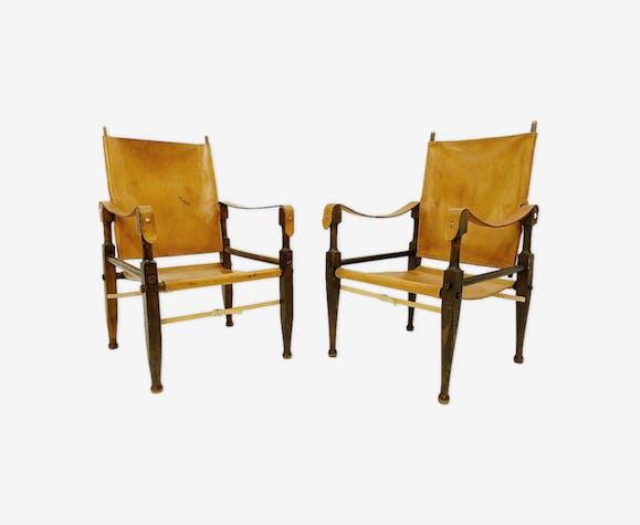 Paire de fauteuils Safari par Wilhelm Kienzle pour Wohnbedarf, années 1950