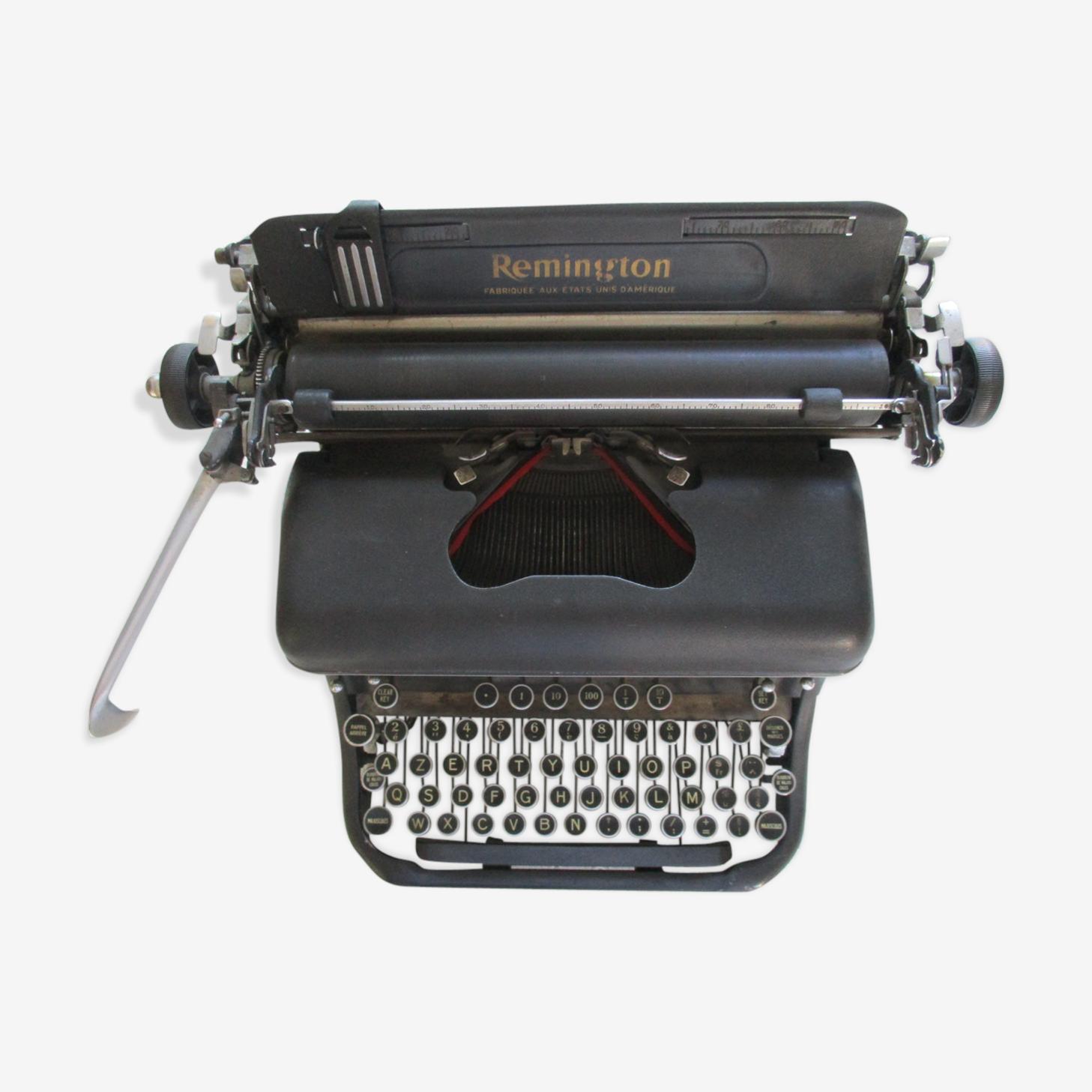 Machine à écrire Remington modèle 17 fabriquée aux Etats Unis d'Amérique
