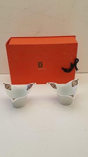 Limoges Porcelain Deshoulières Cups